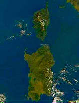 photo satellite de la Sardaigne